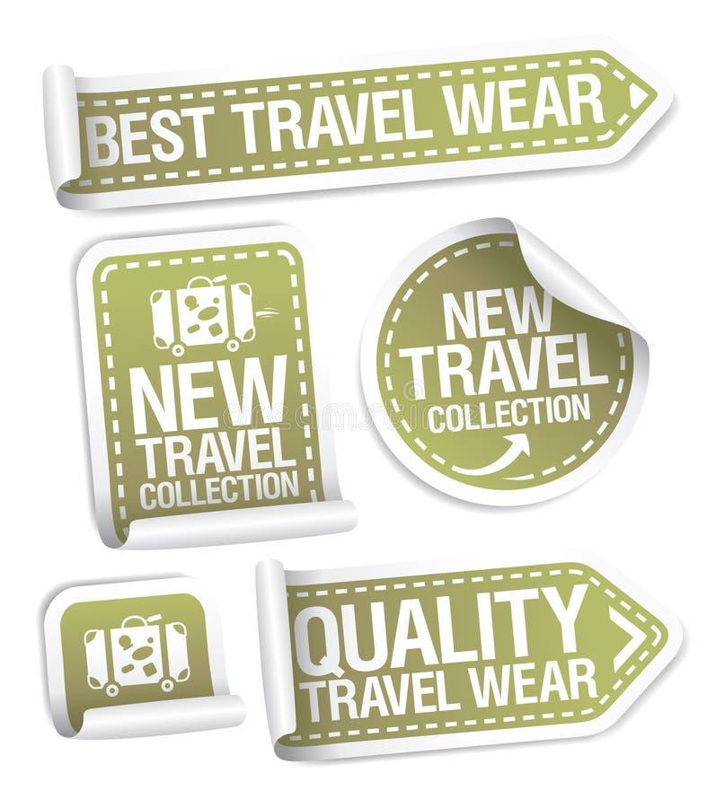 Bästa klistermärkear för loppklädersamling vektor illustrationer