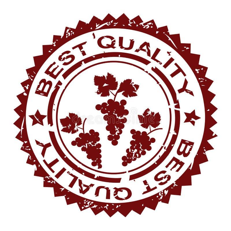 Bästa kvalitets- gummistämpel med gruppen av druvor vektor illustrationer
