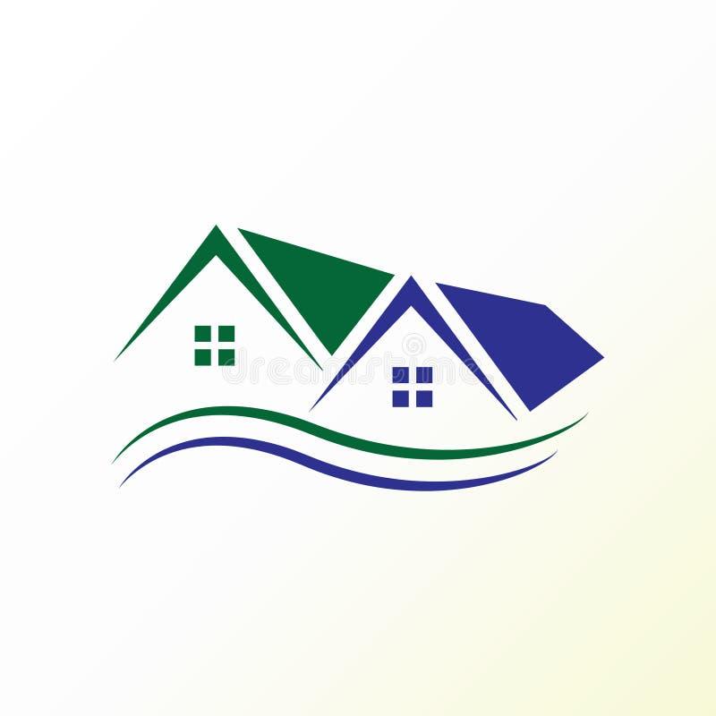 B?sta kvalitets- hus, fastighetlogodesign Byggande logo f?r ditt f?retag royaltyfri illustrationer
