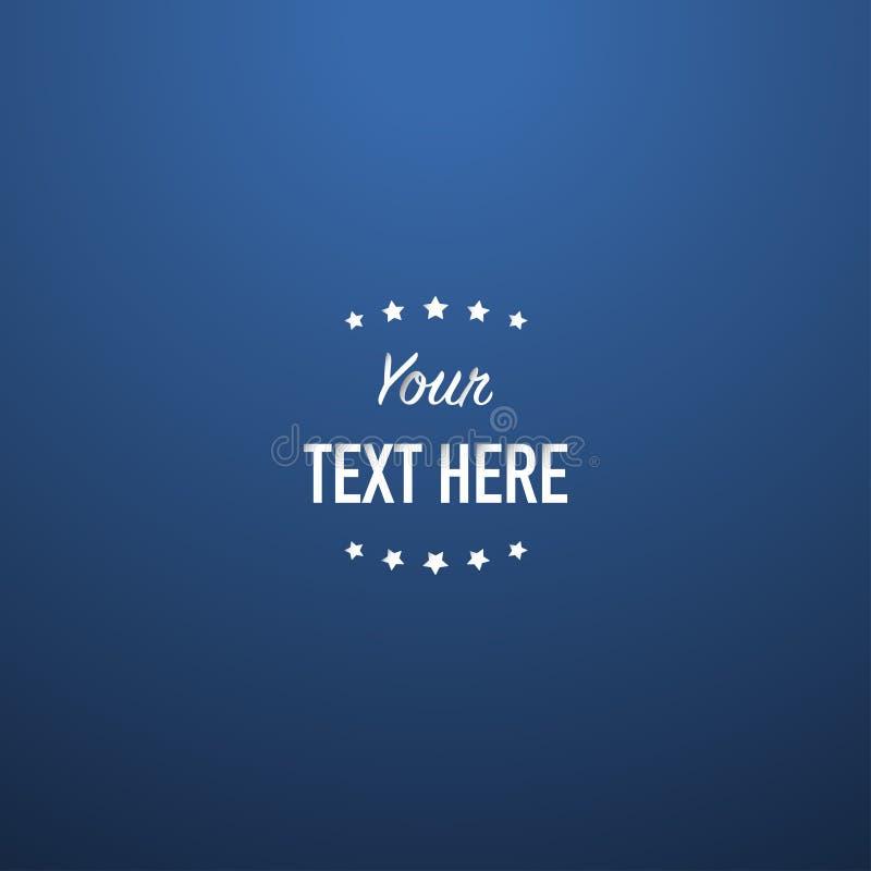Bästa ljus vektor för idérik blå abstrakt slät bakgrund royaltyfri illustrationer