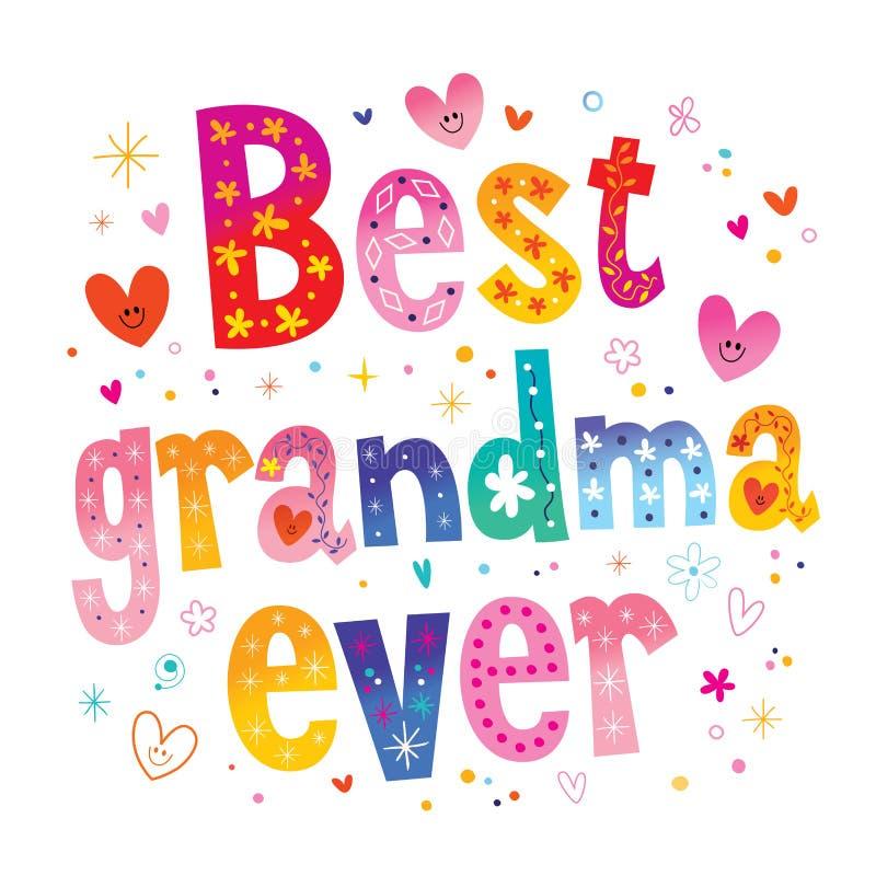 Bästa mormor någonsin royaltyfri illustrationer