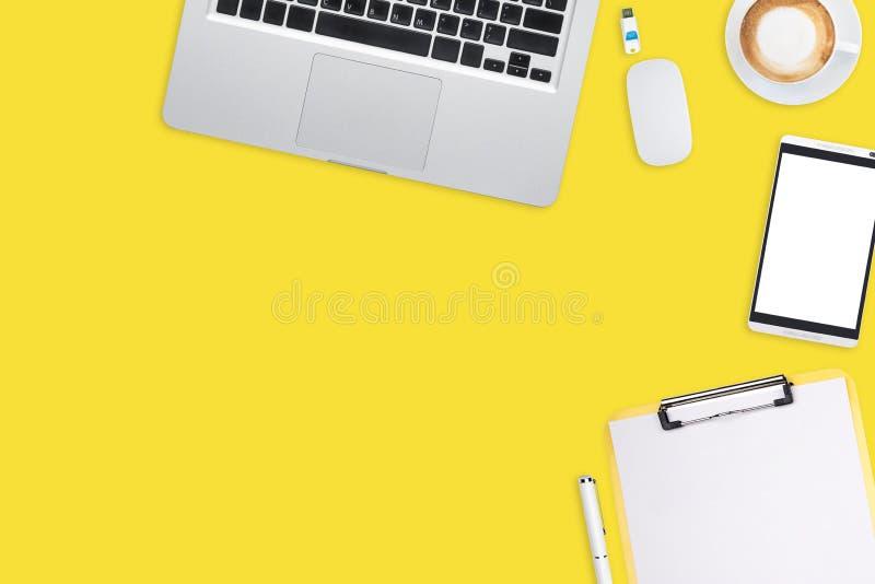 Bästa sikt av affärsarbetsplatsen vektor illustrationer