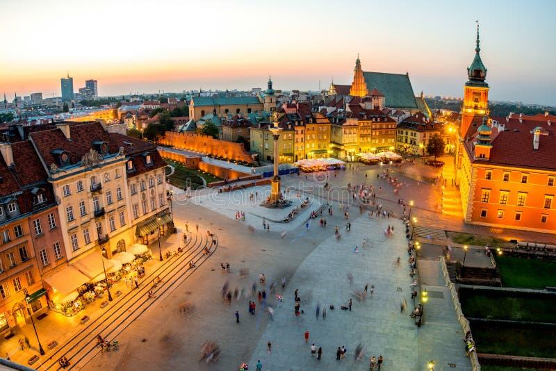 Bästa sikt av den gamla staden i Warszawa royaltyfri foto