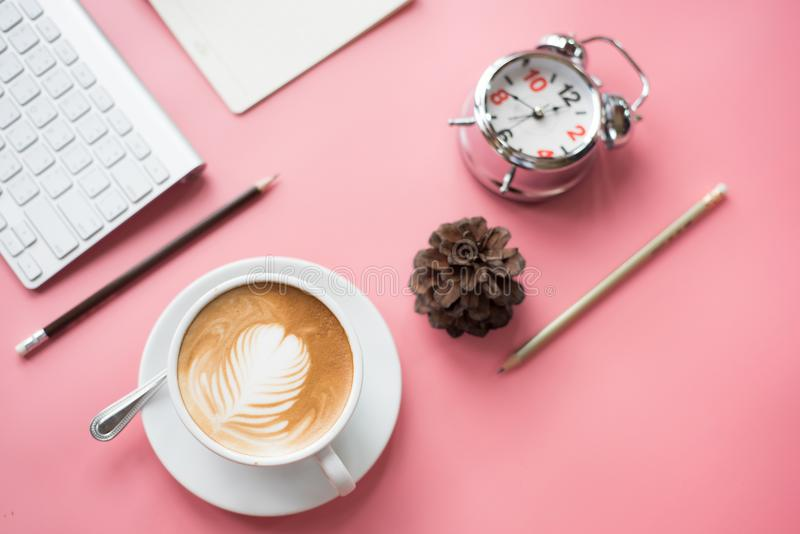 Bästa sikt av det nya kaffeavbrottet royaltyfri fotografi