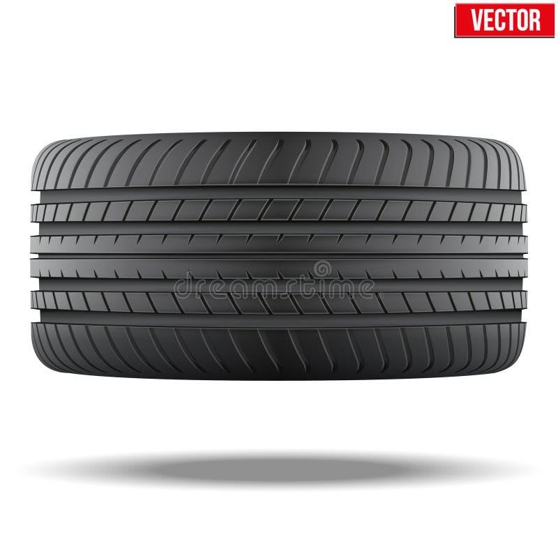 Bästa sikt av det realistiska symbolet för rubber gummihjul vektor vektor illustrationer