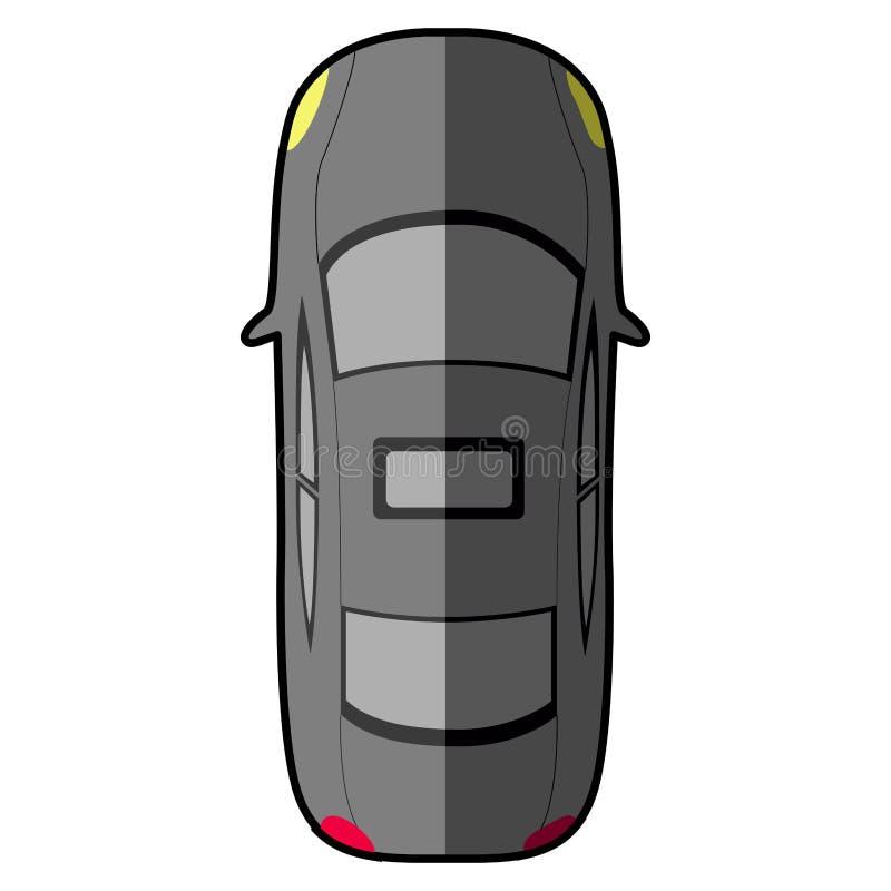 Bästa sikt av en bil stock illustrationer