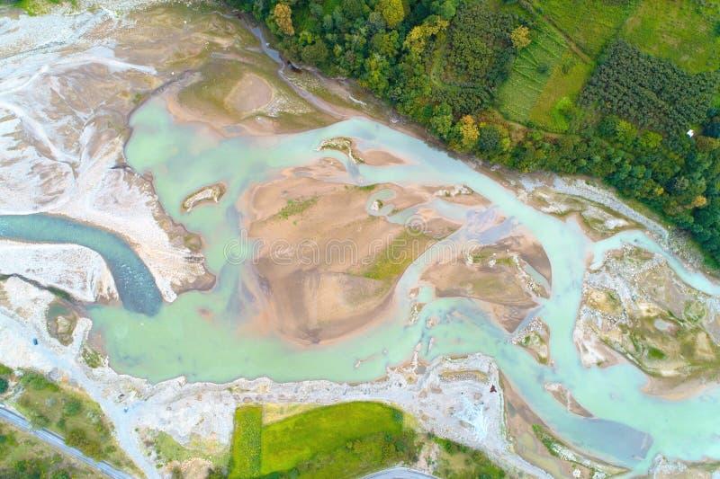 Bästa sikt av floden Adjaristskali i Georgia fotografering för bildbyråer