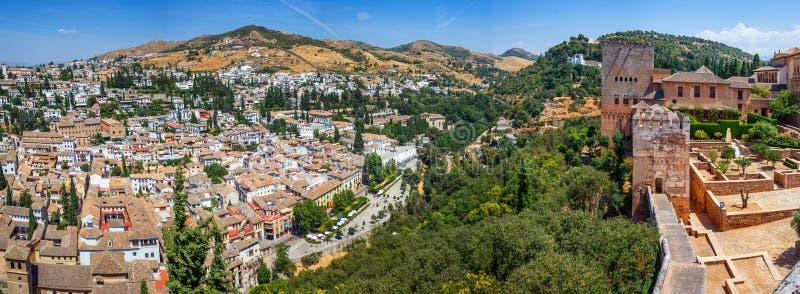 Bästa sikt av Granada arkivbild