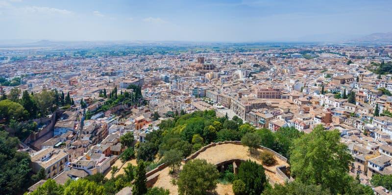 Bästa sikt av Granada arkivbilder
