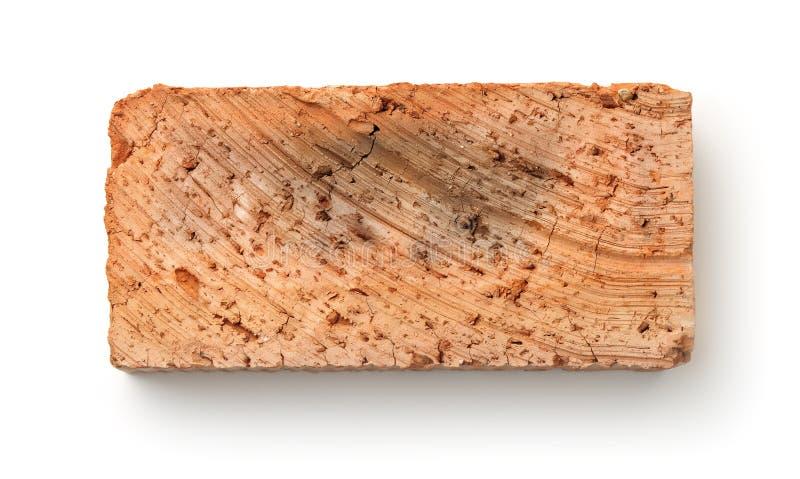 Bästa sikt av grov tegelsten för röd lera arkivfoto