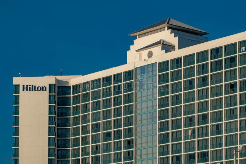 Bästa sikt av Hilton Daytona Beach Ocean Front arkivfoto