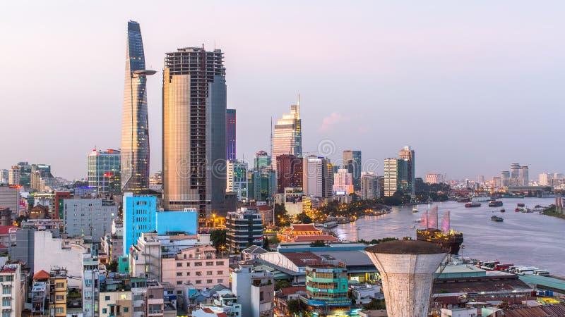 Bästa sikt av Ho Chi Minh City royaltyfria foton