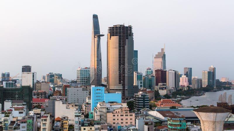 Bästa sikt av Ho Chi Minh City fotografering för bildbyråer