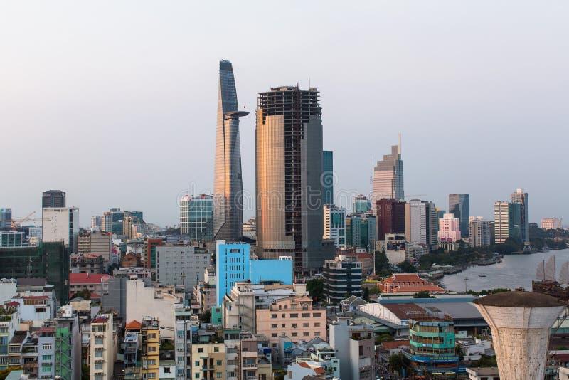 Bästa sikt av Ho Chi Minh City arkivbilder