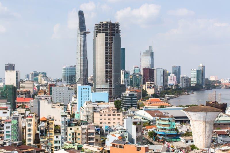 Bästa sikt av Ho Chi Minh City (Saigon) royaltyfria foton