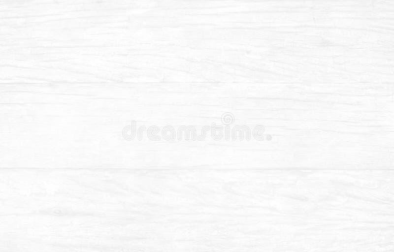Bästa sikt av ljus vit trätabellbakgrund, textur av skällträ med den gamla naturliga modellen arkivfoton