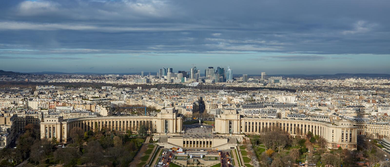 Bästa sikt av Paris, Frankrike fotografering för bildbyråer