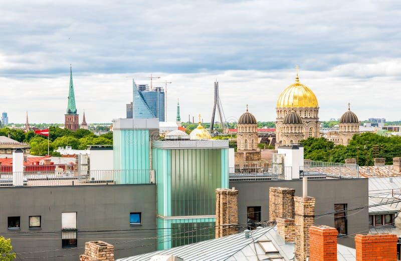 Bästa sikt av Riga, Lettland royaltyfri bild