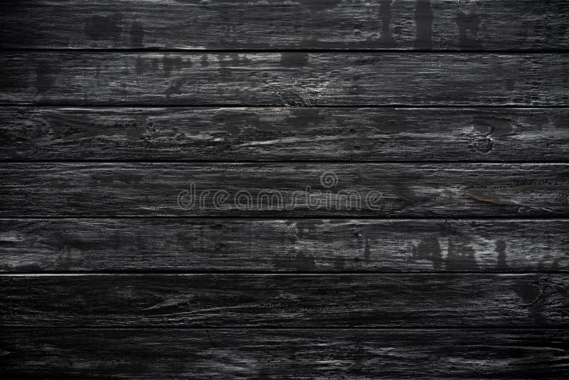 Bästa sikt av svart wood texturbakgrund arkivbild