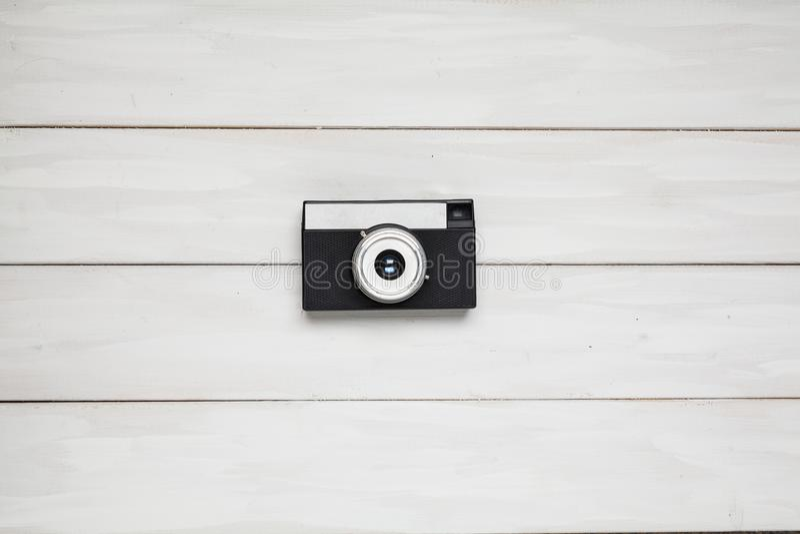 Bästa sikt för gammal tappningkamera arkivbild