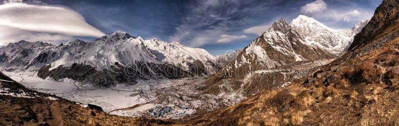 Bästa sikt för Longtang berg fotografering för bildbyråer