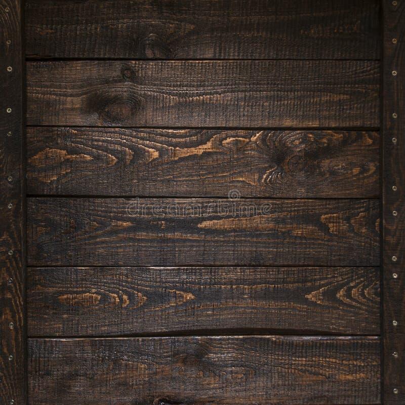 Bästa sikt för mörk textur för plankor wood royaltyfri fotografi