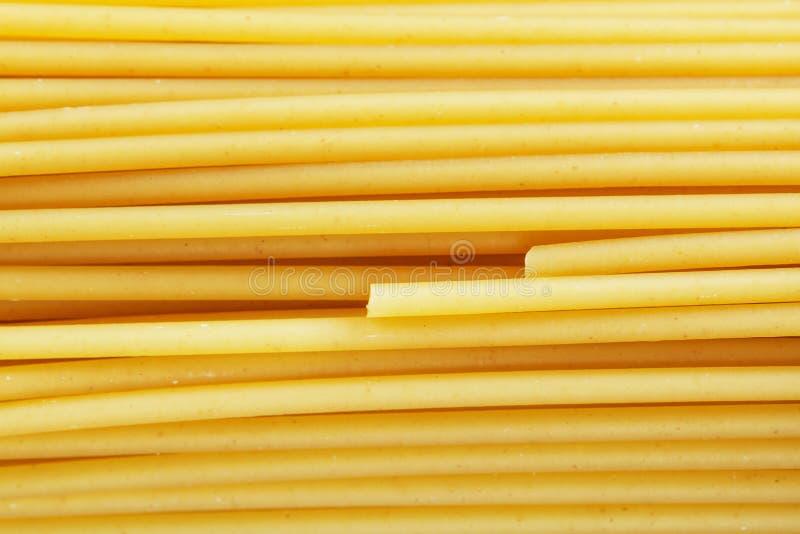 Bästa sikt för rå italiensk spagetti royaltyfri fotografi