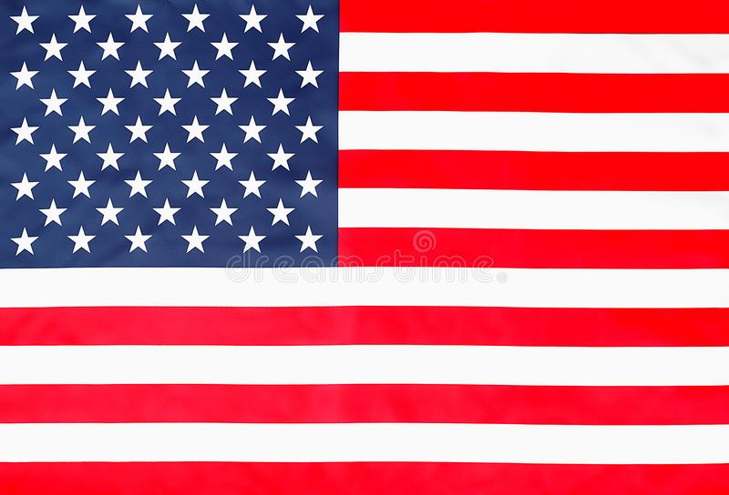 Bästa sikt för stjärnklar randig amerikanska flaggan royaltyfri illustrationer
