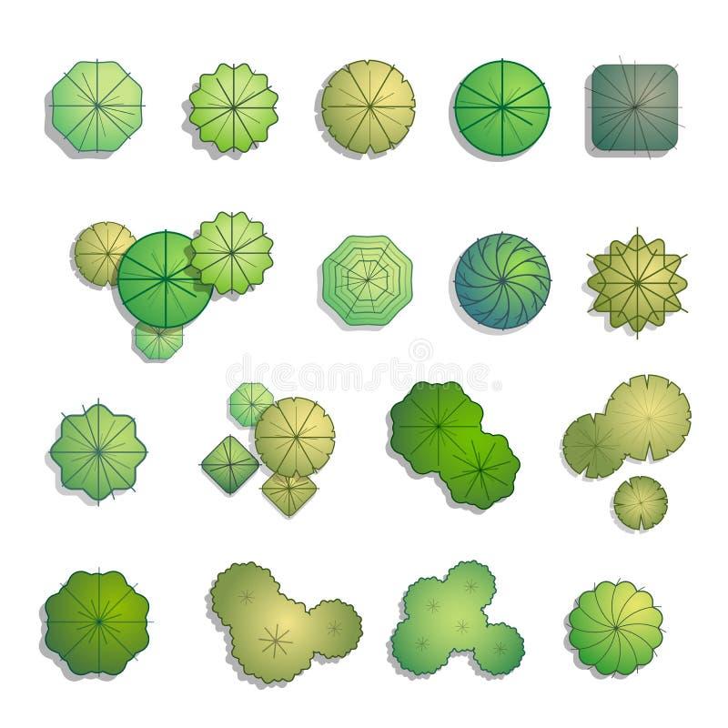 Bästa sikt för träd för landskapdesign royaltyfri illustrationer