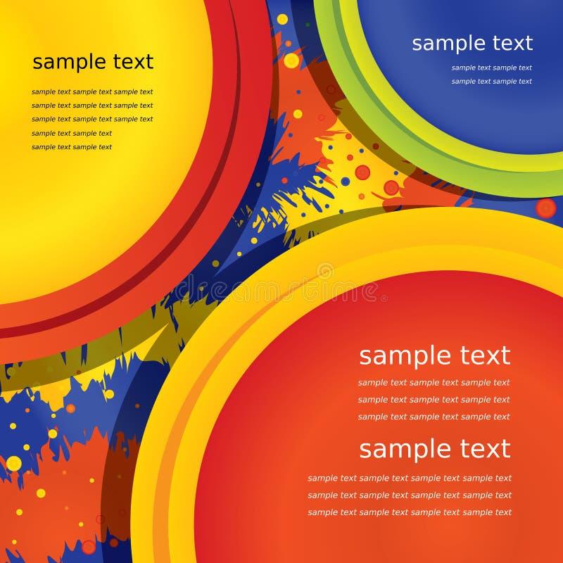 Bästa sikt för vektor av primära färger stock illustrationer