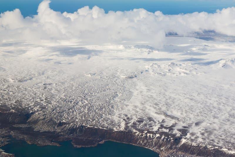 Bästa sikt, naturlig landsca för Island vintersäsong royaltyfria bilder