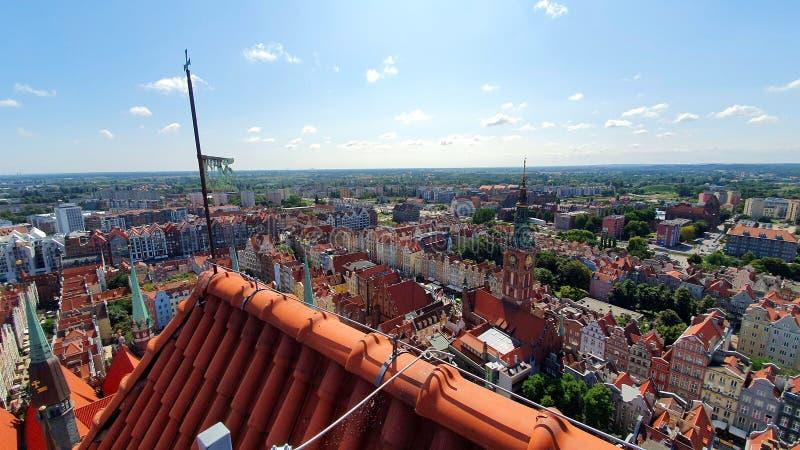 Bästa sikt på Gdansk, Polen royaltyfri fotografi
