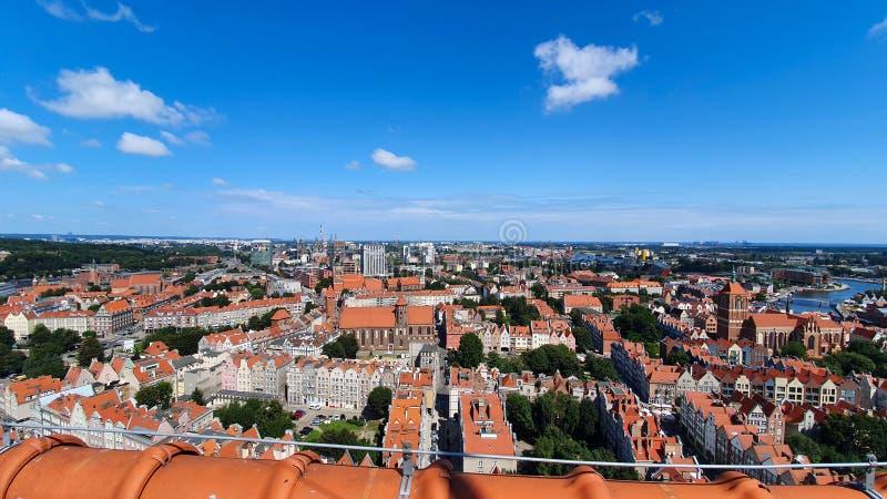 Bästa sikt på Gdansk, Polen arkivbilder