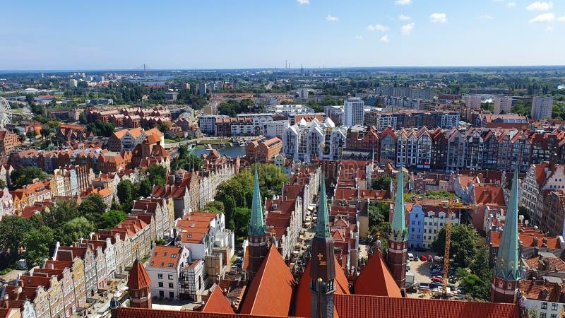 Bästa sikt på Gdansk, Polen royaltyfria foton