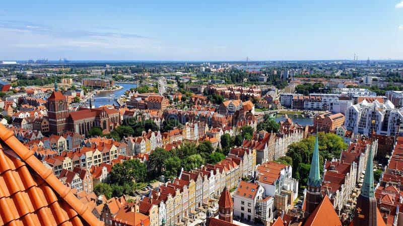 Bästa sikt på Gdansk, Polen arkivfoto