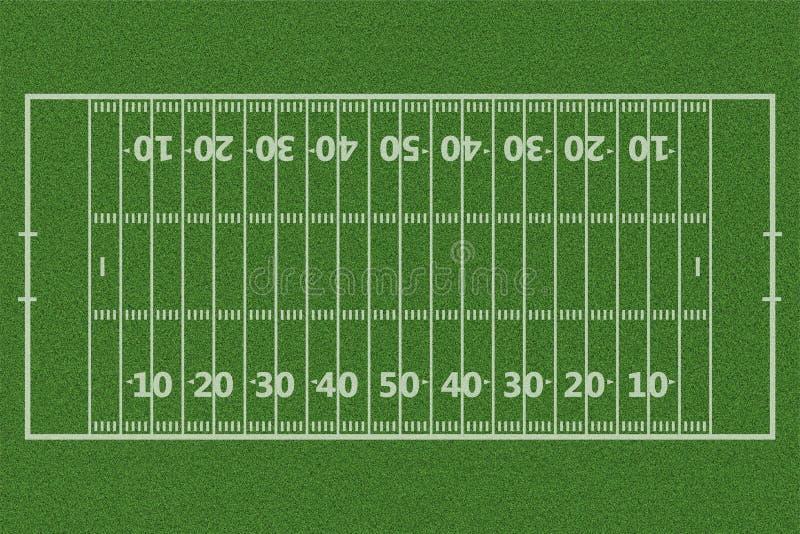 Bästa sikter av bakgrund för fält för amerikansk fotboll vektor illustrationer