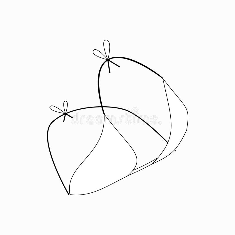 Bästa symbol för kvinnabaddräkter, isometrisk stil 3d royaltyfri illustrationer