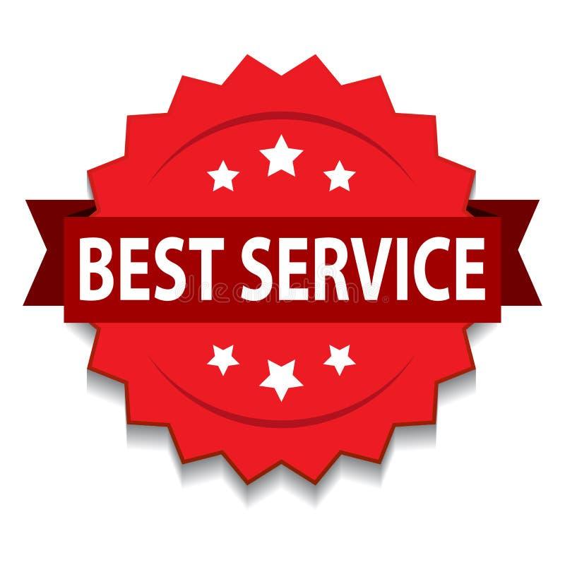 bästa tjänste- skyddsremsa royaltyfri illustrationer