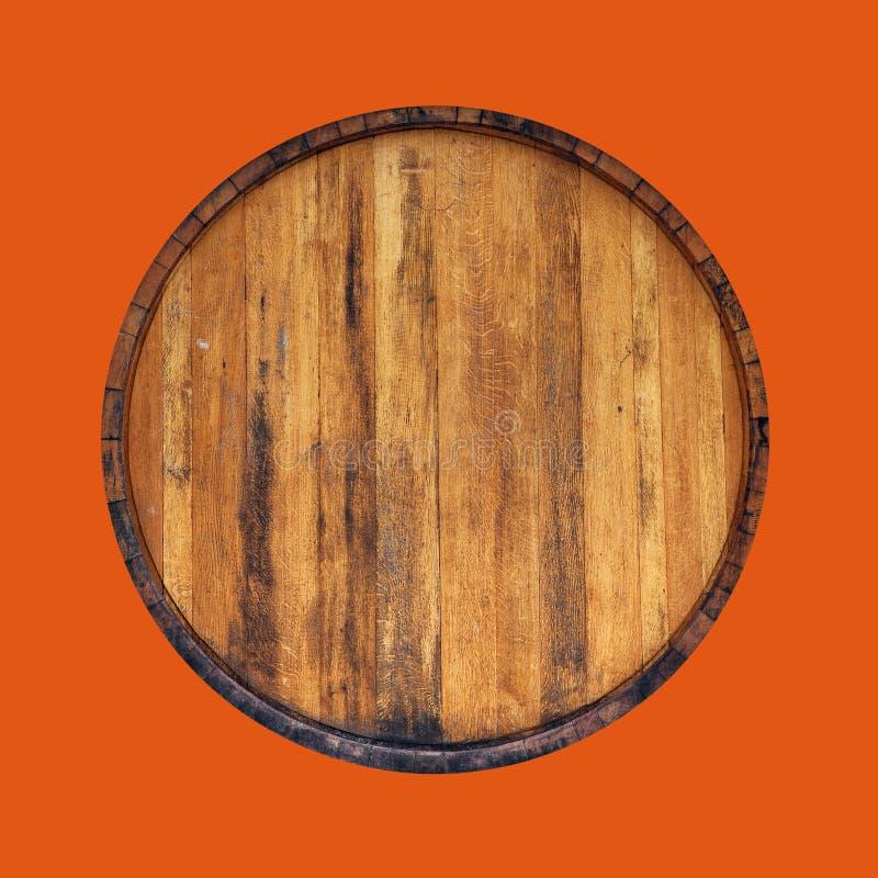 Bästa trumma på orange bakgrund arkivbilder