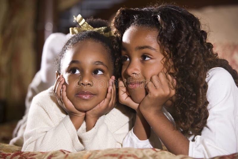 bästa vänsystrar royaltyfri foto