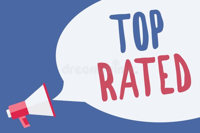 Bästa värderat för ordhandstiltext Affärsidé för det höga beloppet av en laddning eller en betalning som baseras på beräkningsmeg royaltyfri illustrationer