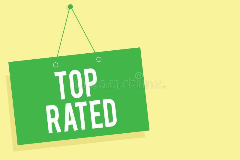 Bästa värderat för ordhandstiltext Affärsidé för det höga beloppet av en laddning eller en betalning som baseras på mes för vägg  stock illustrationer