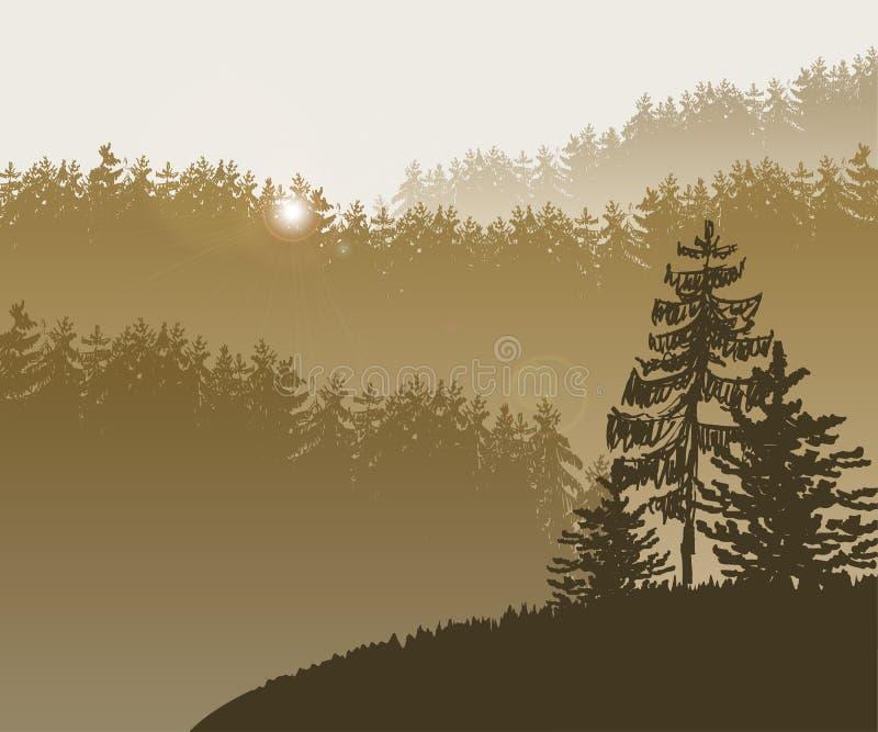 Bäume des Waldes BG lizenzfreie abbildung