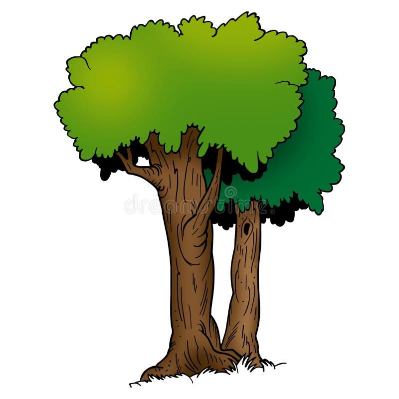 Bäume - laubwechselnd stock abbildung