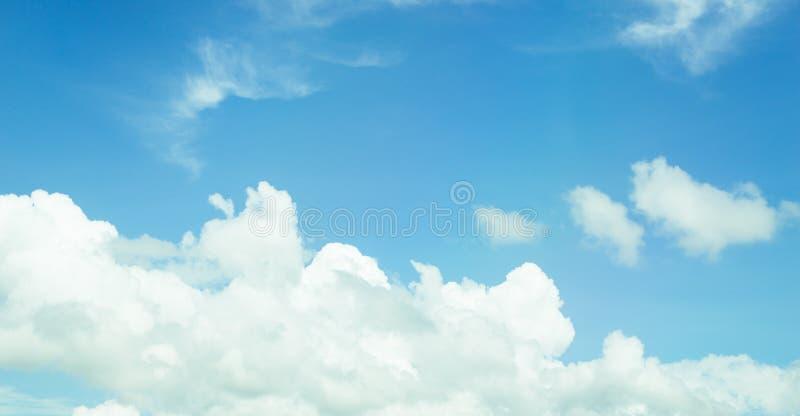 Bäume und bewölkte Landschaft der Wolke des blauen Himmels lizenzfreie stockfotos