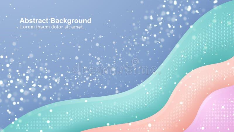 Błękit, zieleń, pomarańcze, różowy modny gradientowy tło EPS10 wektorowa ilustracja ilustracji