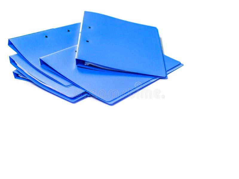 Błękitna kartoteki falcówki retencja kontrakty i papier zdjęcia stock