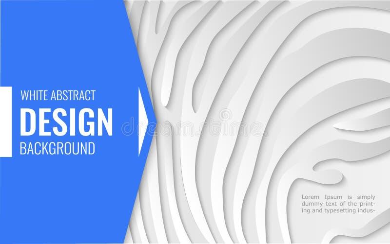 Błękitne strzały na białej księgi linii - abstrakcjonistyczna tekstura prosty tło dla okładkowego projekta, plakat, ilustracji