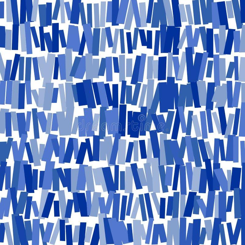 Błękitni prostokąty: abstrakcjonistyczny wizerunek ilustracji
