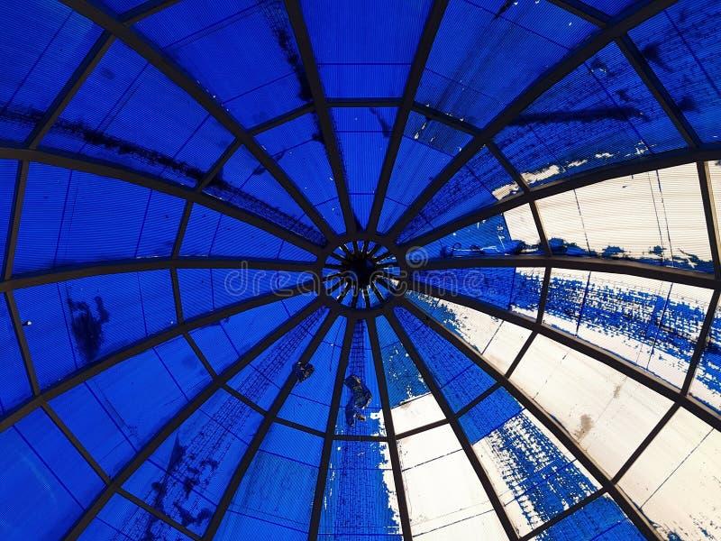 Błękitny bańczasty dach zdjęcia royalty free